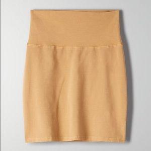 Aritzia High Waist Jersey Mini Skirt - Medium